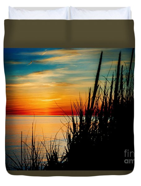 Black Grass Duvet Cover by Randall  Cogle