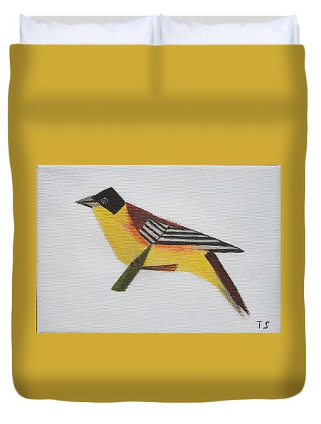 Black-headed Bunting Duvet Cover