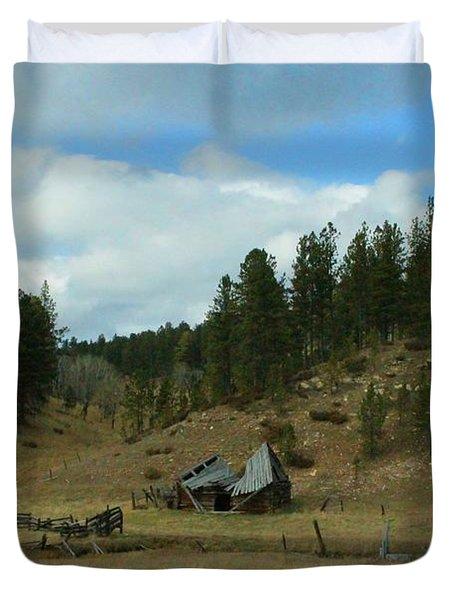 Black Hills Broken Down Cabin Duvet Cover