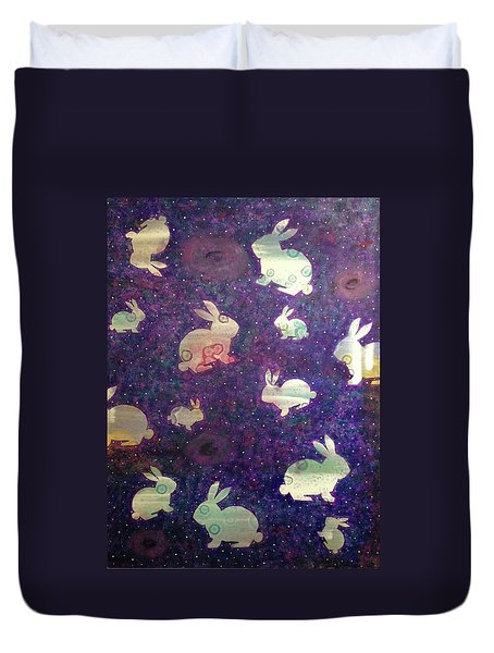 Black Holes And Bunnies Duvet Cover
