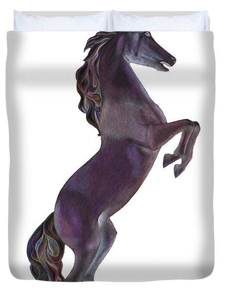 Black Horse Duvet Cover