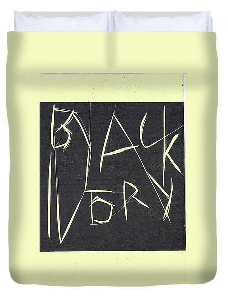 Black Ivory Title Page Duvet Cover