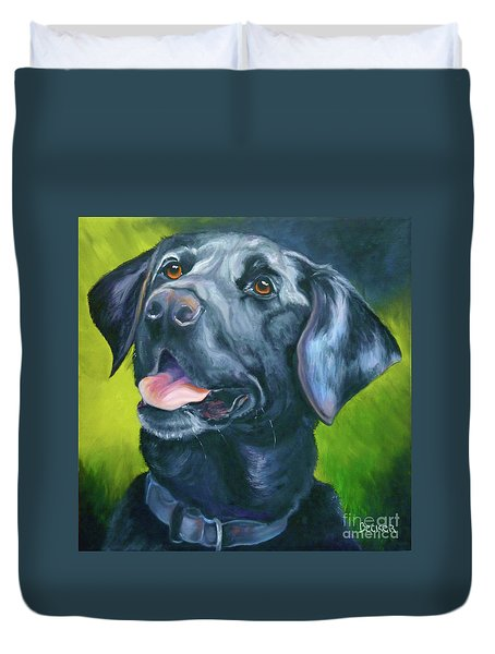Black Lab Forever Duvet Cover
