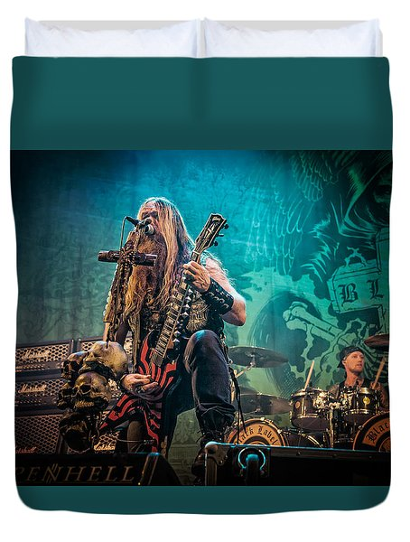 Duvet Cover featuring the photograph Black Label Society by Stefan Nielsen