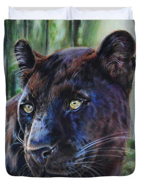 Black Leopard Duvet Cover