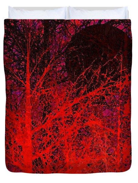 Black Moon Duvet Cover by Richard Rizzo