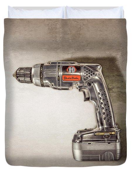Black N Decker Retro Drill Motor Duvet Cover
