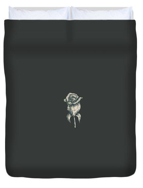 Black On Black Duvet Cover