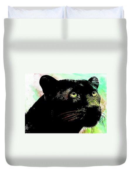 Black Panther Animal Art Duvet Cover