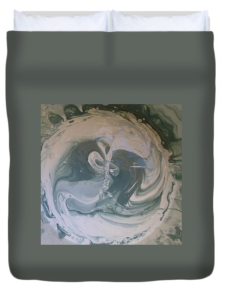 Black Panthers Kissing In Ice Cave Duvet Cover