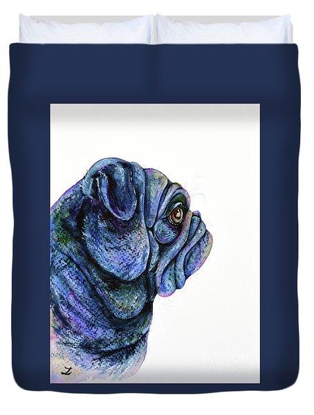Black Pug Duvet Cover