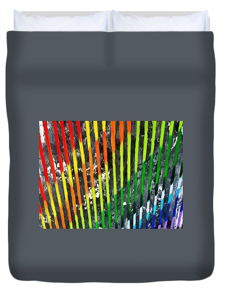 Black Rainbow Duvet Cover