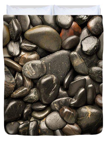 Black River Stones Portrait Duvet Cover