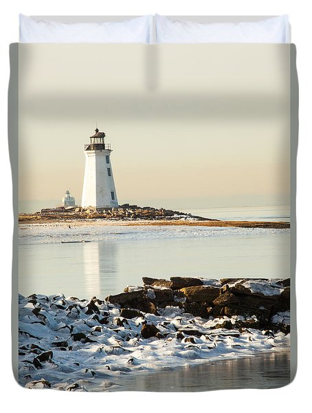 Black Rock Harbor Duvet Cover