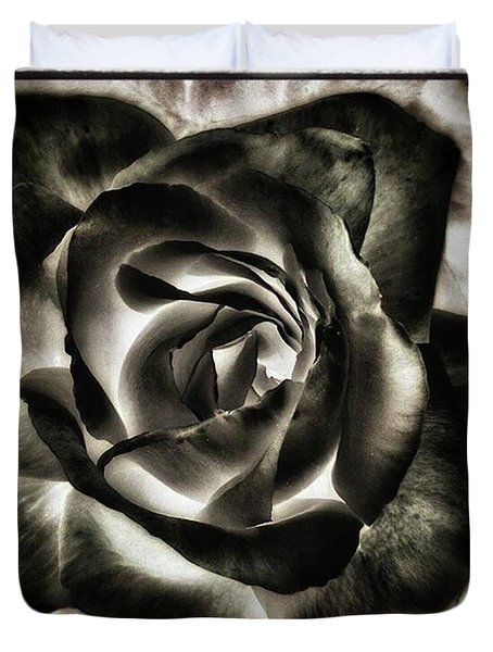 Duvet Cover featuring the photograph Black Rose. Symbol Of Farewells by Mr Photojimsf