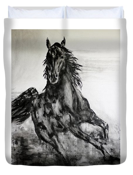 Black Runner Duvet Cover