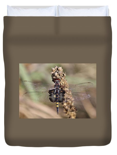 Black Saddlebags Duvet Cover