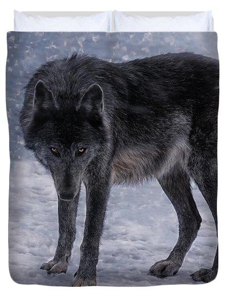 Black She-wolf Duvet Cover
