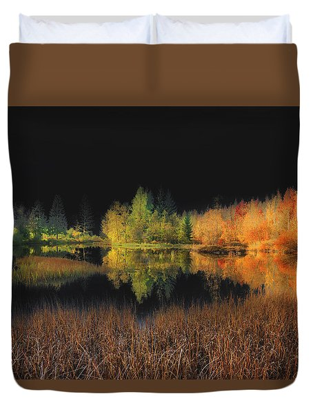 Black Sky Duvet Cover