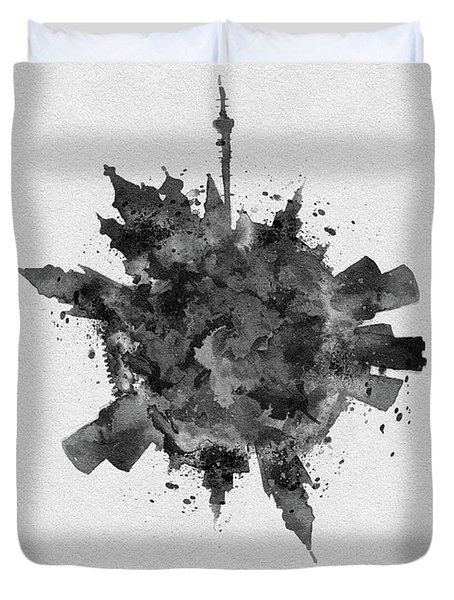 Black Skyround Art Of Moscow, Russia Duvet Cover