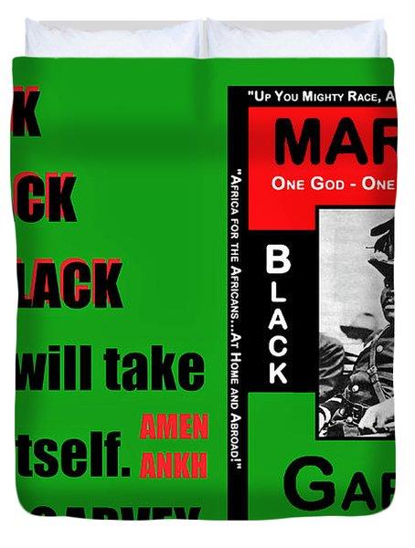 Black Star Garvey Duvet Cover