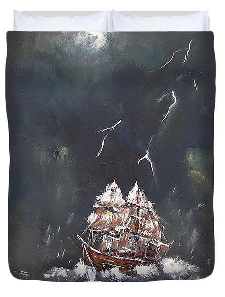 Black Storm Duvet Cover