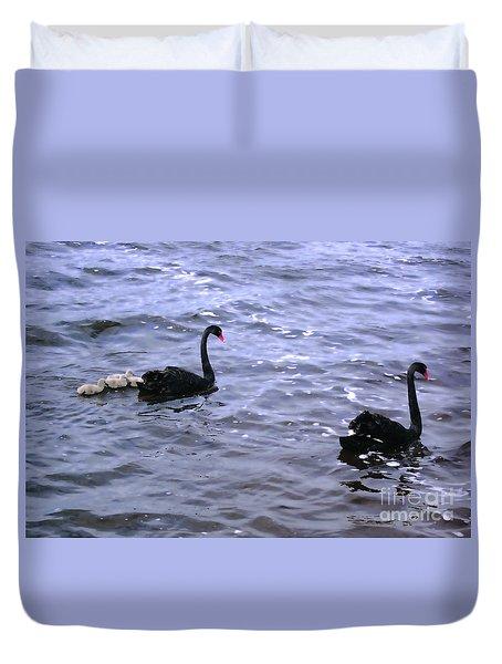 Black Swan Family Duvet Cover