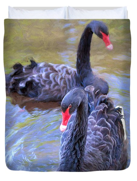 Black Swans Duvet Cover