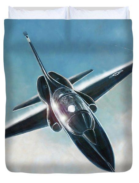 Black T-38 Duvet Cover