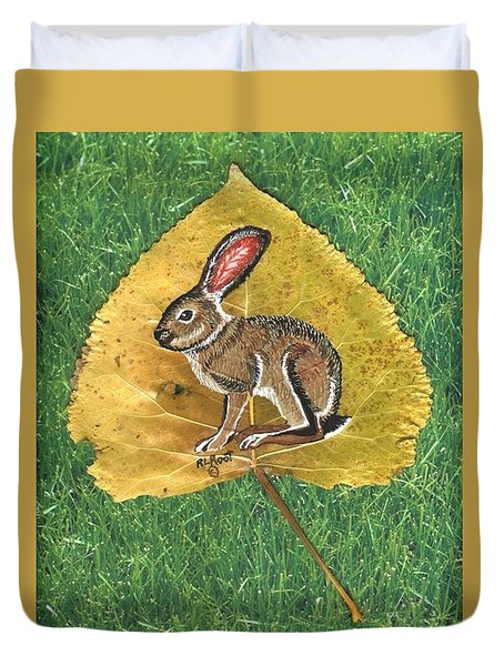 Black Tail Jack Rabbit  Duvet Cover by Ralph Root