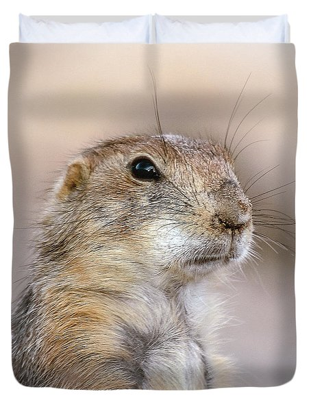 Black Tail Prairie Dog Duvet Cover