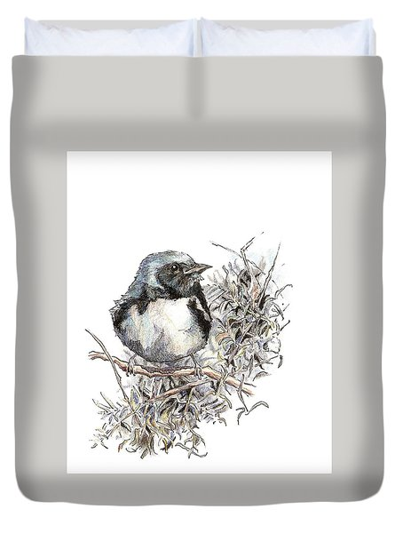 Black-throated Blue Warbler Duvet Cover