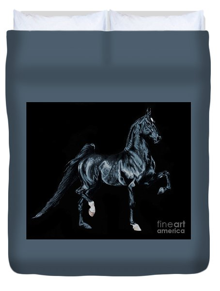 Black Tie Affair Featuring Saddlebred Champion Undulata's Made In Heaven Duvet Cover by Cheryl Poland