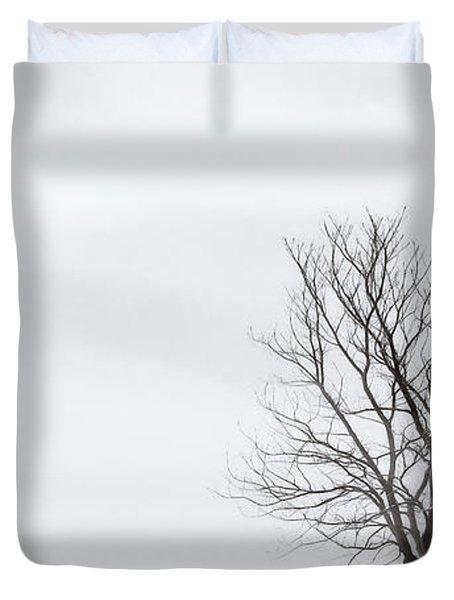 Black Tree White Sky Duvet Cover