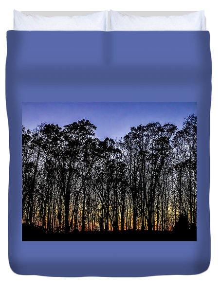 Duvet Cover featuring the photograph Black Trees by Onyonet  Photo Studios