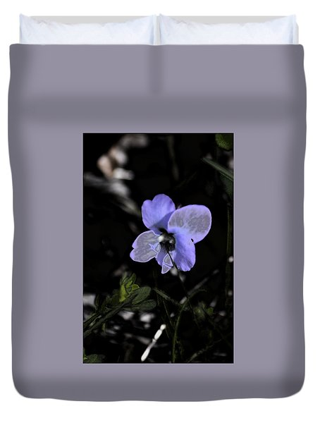 Black Violet Duvet Cover