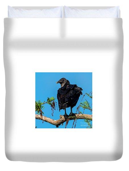 Black Vulture Duvet Cover