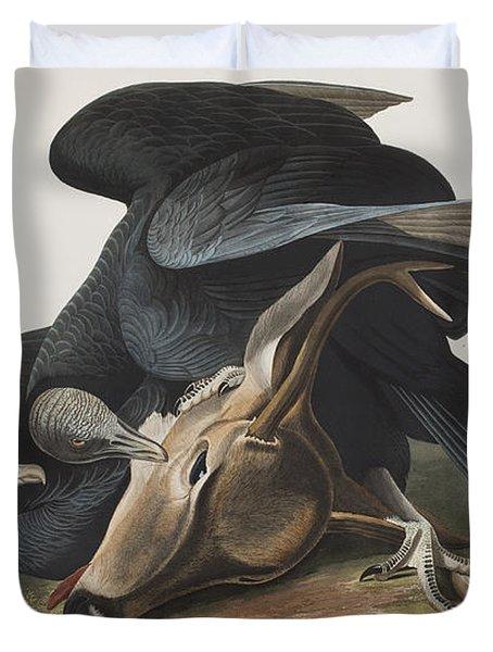 Black Vulture Or Carrion Crow Duvet Cover