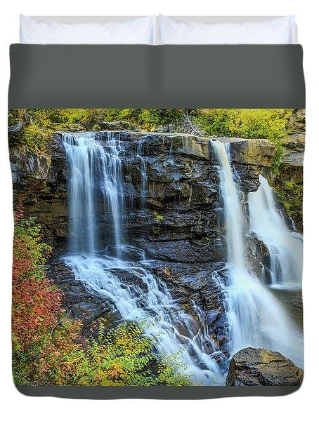 Black Water Falls #3 Duvet Cover