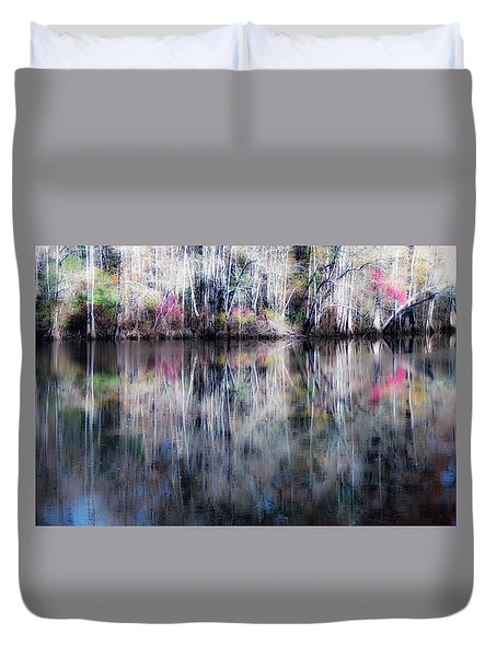 Black Water Fantasy Duvet Cover