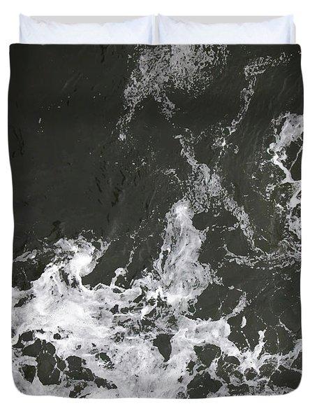 Black Water Marble  Duvet Cover
