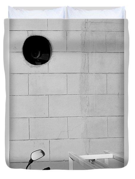 Duvet Cover featuring the photograph Black White Grey by Prakash Ghai