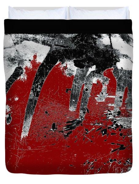 Black White Red Allover I Duvet Cover