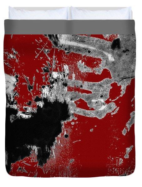 Black White Red Allover  II Duvet Cover