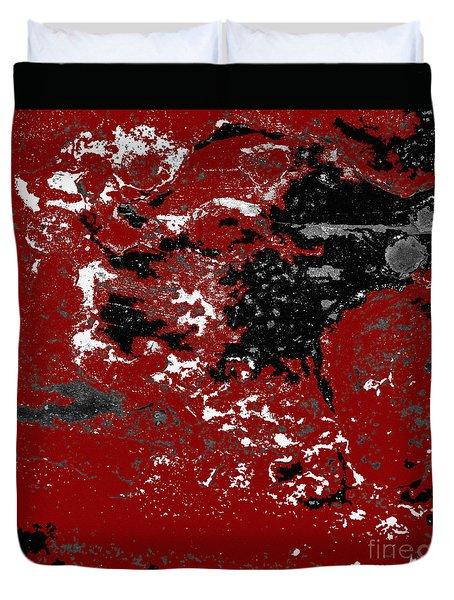 Black White Red Allover  Vi Duvet Cover
