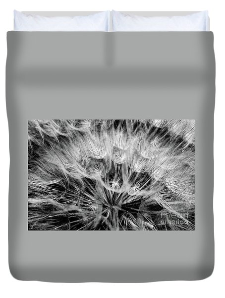 Black Widow Dandelion Duvet Cover by Iris Greenwell