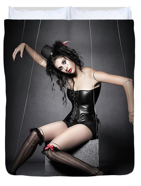 Black Widow Marionette Puppet  Duvet Cover