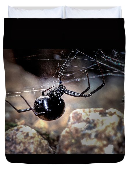 Black Widow Spider Duvet Cover