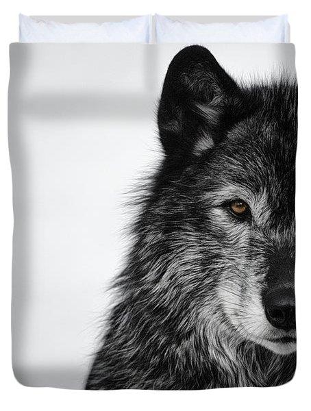Black Wolf I Duvet Cover
