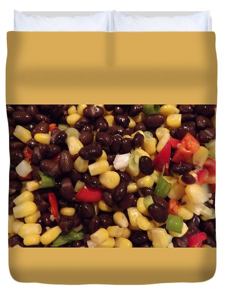 Blackbean Salad Duvet Cover